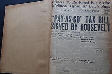 WW2 NEWSPAPER June 16 1943 Vast Invasion Fleet Now Massed In Britain BNP NWS