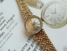 ALL 14k Gold 1970's Lady's Rolex Formal Cocktail Dress Watch 22 Grams Runs