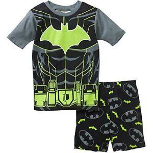 BATMAN Boys Size 10 Glow in the Dark Pajama Shorts Set