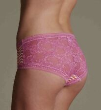 M&S SIZE 8 10 12 14 PINK LACE LOW RISE SHORTS KNICKERS PANTS LACE PANTIES BRIEFS