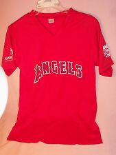 L.A. ANGELS, TIM SALMON #15, NEW  RED JERSEY SZ. YOUTH XL