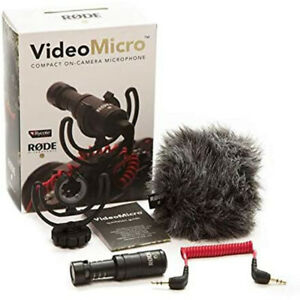 Rode VideoMicro Compact On-Camera Microphone with Rycote Lyre Shock Mount Black