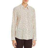 Lafayette 148 New York Womens Julianne Silk Printed Shirt Blouse Top BHFO 9629