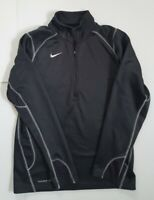 Nike Therma Fit Pullover 1/4 zip Jacket Mens Size Small Dark Gray