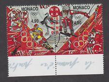 Monaco -Timbres neufs ** JO Jeux Olympiques d'hiver à Nagano - N°2142 et 2143