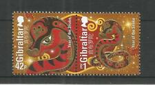 GIBRALTAR 2013 YEAR OF THE SNAKE SG,1488-1489 U/MM N/H LOT 3778A