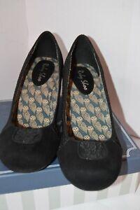 Ruby Shoo Womens Black Textile Heels Size UK 7 EU 40