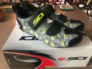Sidi Men's T-5 Air Triathlon Cycling Shoe (42.0) Grey/Yellow/Black