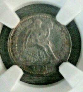 1871-S Liberty Seated Half Dime NGC graded UNC DETAILS (OBV CLEANED; GEM REV)