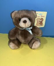 "Vintage Small 6"" Russ Berrie Luv Pets Bear Toasty Stuffed Plush Animal w/ Tag"