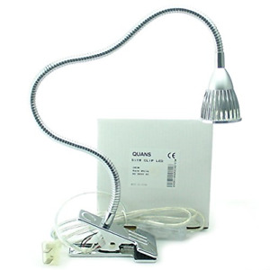 QUANS 5W 5x1W Warm White 19.68inch Clamp Clip on Gooseneck High Power LED Desk