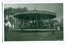 FF -0018 - J Collins - Strung 3-abreast Horse Carousel Vintage Photograph