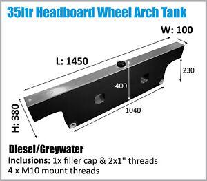 Colorado Ranger Toyota Dual Cab Ute Wheel Arch DIESEL Tank Headboard 35L 4x4 4WD