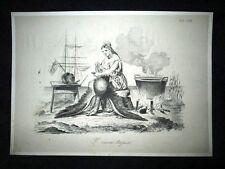 Incisione d'allegoria e satira Venezia, Austria, Italia Don Pirlone 1851