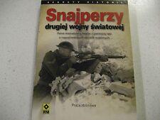 SNAJPERZY  DRUGIEJ  WOJNY  SWIATOWEJ  MAUSER  K98   POLISH BOOK  POLAND