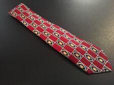 """NWT new Robert Talbott men's Red Geometric Silk Tie Necktie 56"""" 3.75"""""""