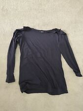 Shein Long Sleeved Navy Off The Shoulder Top Size Medium
