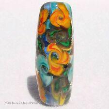 KALANCHOE Handmade Art Glass Focal Bead Flaming Fools Lampwork Art Glass SRA
