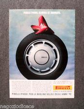 N757 - Advertising Pubblicità - 1991 - PIRELLI P4000 , ELIMINA LE SBANDATE