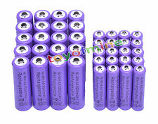 20x AA 3000mAh +20x AAA 1800mAh 1.2V NI-MH recargables batería 2A 3A púrpura
