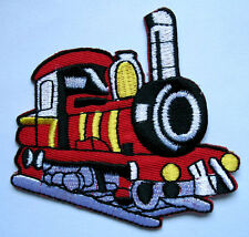 PRETTY STEAM LOCOMOTIVE RAILWAY TRAIN Embroidered Iron on Patch Free Postage