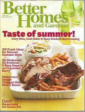 Better Homes and Gardens June 2011 Taste of Summer/Homemade Ice Cream/Organize