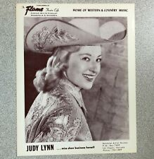authentic Judy Lynn press photo from Mpls Flame Cafe