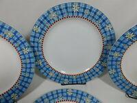 """4 Sakura Debbie Mumm Snowflake Dinner Plates Christmas Winter Dinnerware 11"""""""
