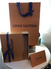 🎁Authentic Louis Vuitton Empty Gift Box+Gift Bag + Envelop Ideal for a Belt