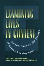 Examining Lives in Context: Perspectives on the Ecology of Human Development (Ap