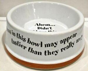 """Pet food Bowl Cat Dog Funny Cute Stoneware  6"""" Diameter"""