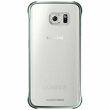 Officiel Samsung Galaxy S6 Edge G925 Transparent étui coque - Vert EF-QG925BGE