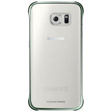 Official Samsung Galaxy S6 Edge G925 Clear Cover Case - Green EF-QG925BGE