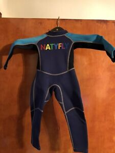 Childs Natyfly Full Wetsuit Size XS Toddler Boy Size 0-2 Years Old