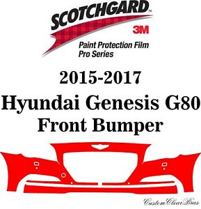3M Scotchgard Paint Protection Pro Serie Fits 2015 2016 2017 Hyundai Genesis G80