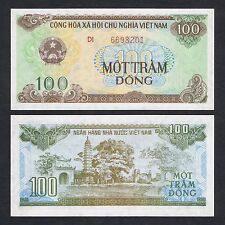 1991 VIETNAM 100 DONG P-105b UNC *LARGE SERIAL NUMBER*