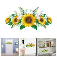 Sunflower Wall Stickers Mural Art Wall Decal Bedroom Living Room Home Decor DIY