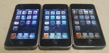 Lot of 3 Apple iPod Touch 2nd Gen A1288 8GB Black - HEAVILY STAINED LCD