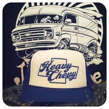 Heavy Chevy blue white trucker hat van truck interior custom vintage shirt g10