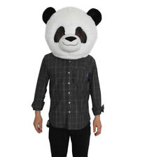 Panda Mascot Costume  Plush Panda Animal Head Mask Halloween Party Fancy Dress