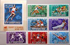 ALBANIA ALBANIEN 1971 1499-05 Block 42 1374-1381 Olympics 1972 Munich Sport MNH