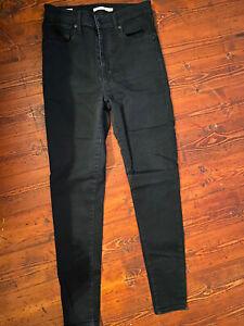 Levi's Black Mile high Super Skinny Jeans W30 (size 12)