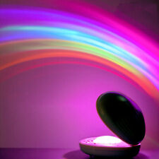 Portable Colorful Rainbow LED Night Light Projector Lamp Party Bedroom Decor Hot