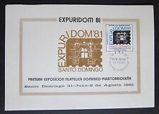 Dominican Republic International Philatelic Exhibition Stampcard 1981 Expuridom