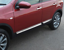 Chrome Side Door Streamer Trim Set Covers To Fit Nissan Qashqai +2 (2006-14)
