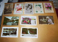 TEN BIRTHDAY POSTCARDS Some postmarked/dated  1912-1943  LOT 10