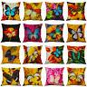 18'' Flower Pillow Case Cotton Linen Plant Sofa Cushion Cover Throw Home Decor