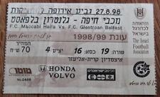 Old ticket EC Maccabi Haifa Glentoran Belfast 1998 Israel North Ireland