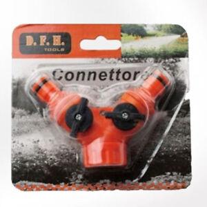 Confezione Connettore In Plastica Per Tubo Acqua Doppia Fontana Per Terreno Casa