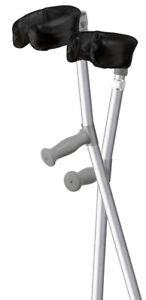 Australian Made ORTHOEZE Padded Forearm Crutch Covers - BLACK